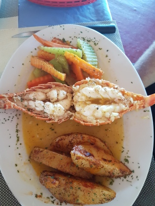 Typical lobster dish