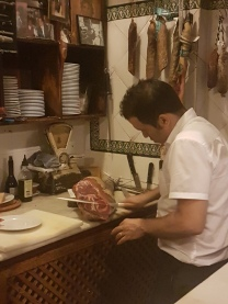 Traditional Jamon carving